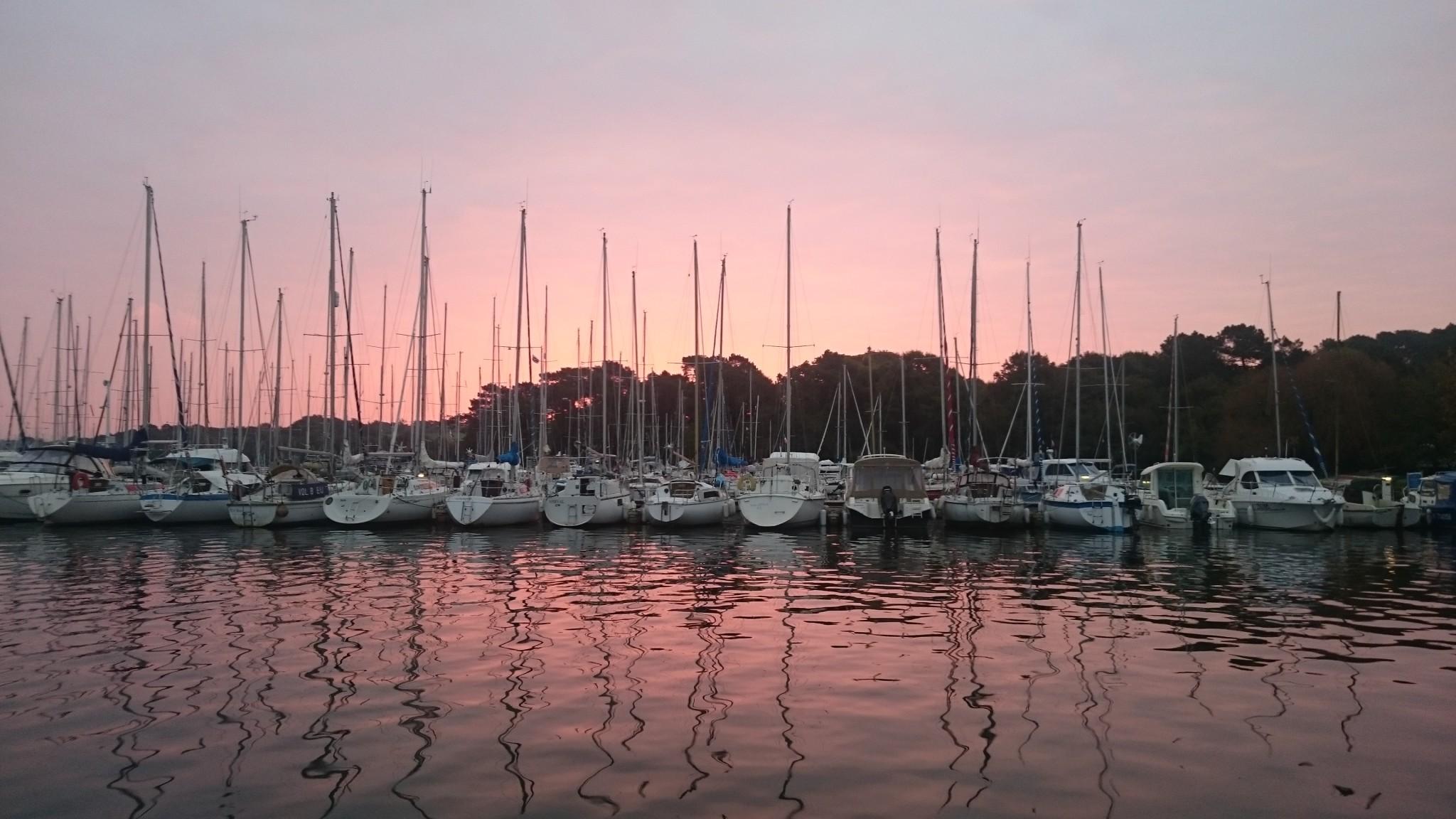 Lever de soleil depuis le bateau
